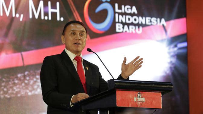 Ketua PSSI, Mochamad Iriawan, saat launching Kompetisi Shopee Liga 1 di Hotel Fairmont, Jakarta, Senin, (24/2/2020). Sebanyak 18 klub akan memeriahkan Liga 1 yang akan berlangsung pada 29 Februari hingga 1 November 2020. (Bola.com/M Iqbal Ichsan)