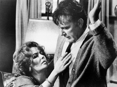 "FILE - In this 1966 file photo originally released by Warner Bros., Elizabeth Taylor, left, and Richard Burton, are shown in a scene from the film, ""Who's Afraid of Virginia Woolf."" (AP Photo/Warner Bros., file)"