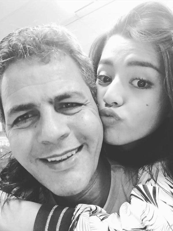 Potret Kebersamaan Susan Sameh dan Ayahnya yang berdarah Mesir. (Sumber: Instagram.com/sameh_abd_elftah)