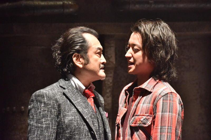 Yoshihiro Kurosaki (Koutarou Yoshida) and Kaiji Ito (Tatsuya Fujiawara) face off in Kaiji: Final Game. (PHOTO: Encore Films)