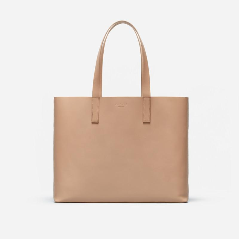 The Day Market Tote in Light Taupe