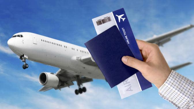 Ilustrasi tiket pesawat (Liputan6.com/Andri Wiranuari)