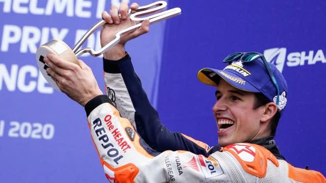 Pesan Menyentuh Marquez Usai Raih Podium di MotoGP Prancis