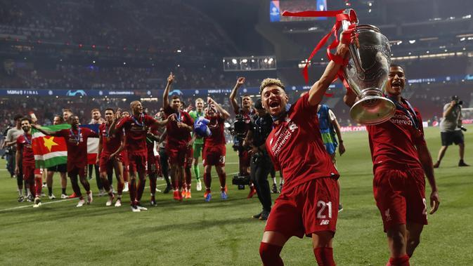 Liverpool saat menjuarai Liga Champions (AP/Bernat Armangue)