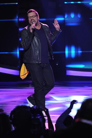 "Adam Brock performs ""Think"" by Aretha Franklin on ""American Idol."""
