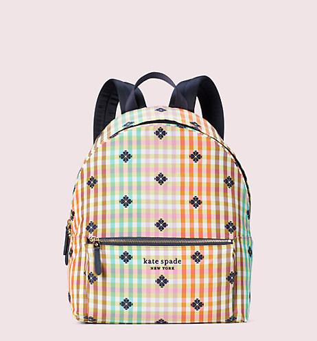 Bella Plaid City Pack Large Backpack. Image via Kate Spade.