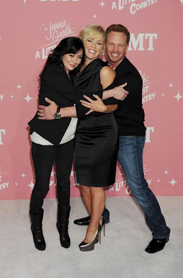 Shannen Doherty, Jennie Garth and Ian Ziering