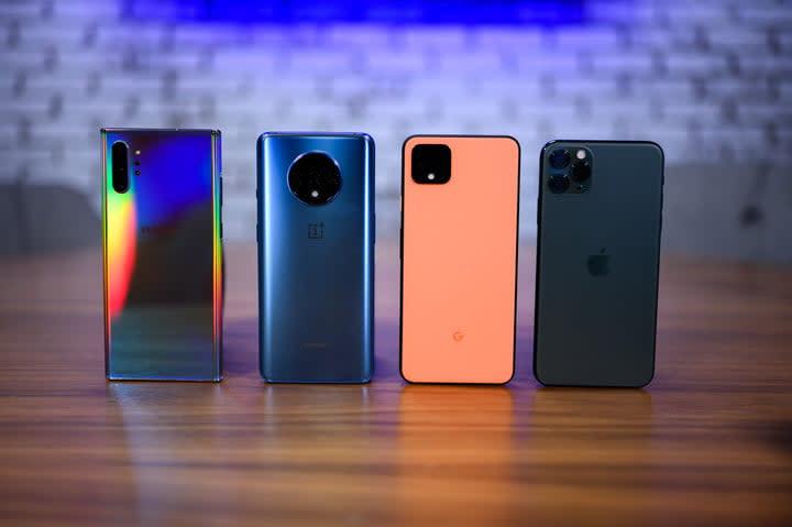 Various new smartphones