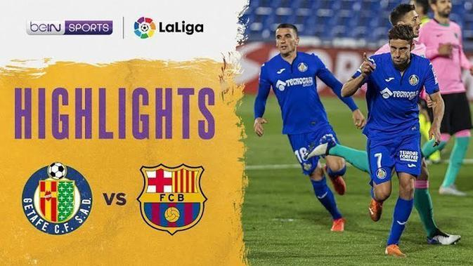 VIDEO: Highlights Kekalahan Barcelona dari Getafe 0-1 di Liga Spanyol