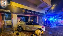 2車互撼撞毀投注站 涉嫌酒駕司機求醫就擒