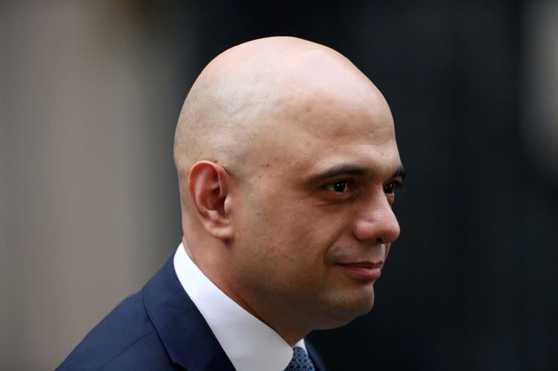 UK's Javid pledges more spending to help voters in March 11 budget
