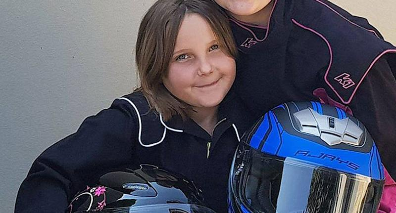 Eight-year-old shown before dying in freak drag race crash at Perth Motorplex in 2017.