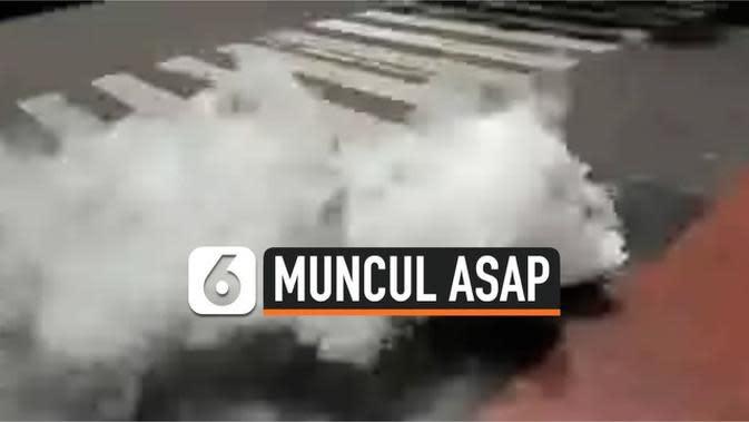 VIDEO: Heboh Asap Muncul dari Aspal Jalan di Bandung, Ini Penyebabnya