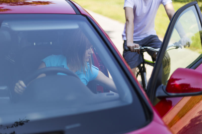 Cyclists are at risk from drivers opening their car doors without looking. Source: Getty, file.