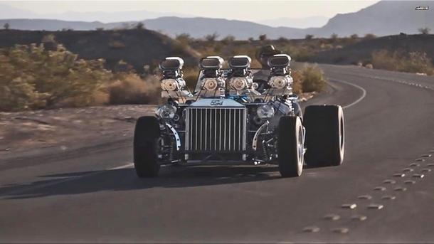 Two V-8s, four superchargers, 1,200 hp combine for one massive hot rod