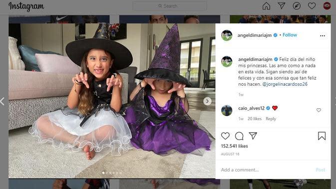 Kedua putri Angel Di Maria (Instagram)