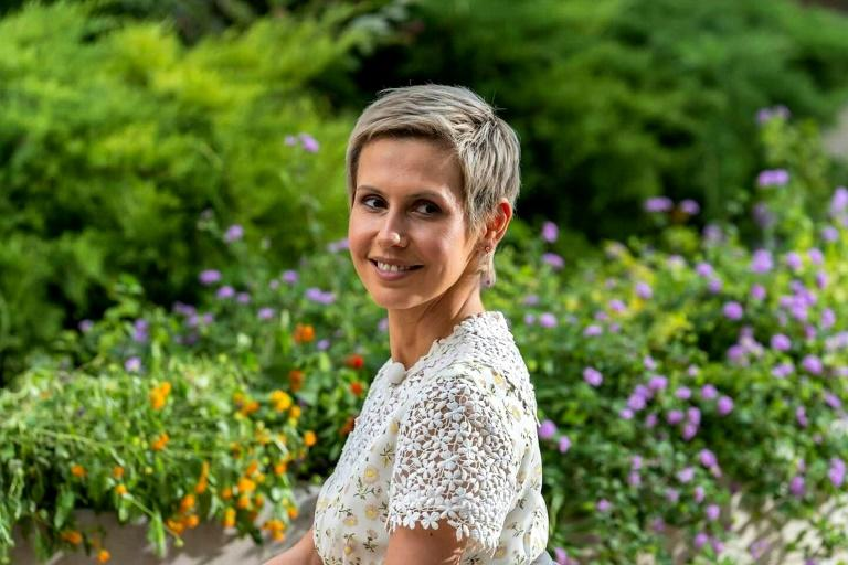 Syrian first lady Asma al-Assad poses for a picture that appeared in 2019 on the Syrian presidency's Facebook page