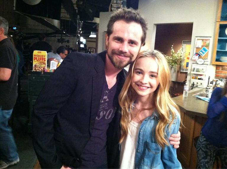 """Girl Meets World"" Rider Strong and Sabrina Carpenter"