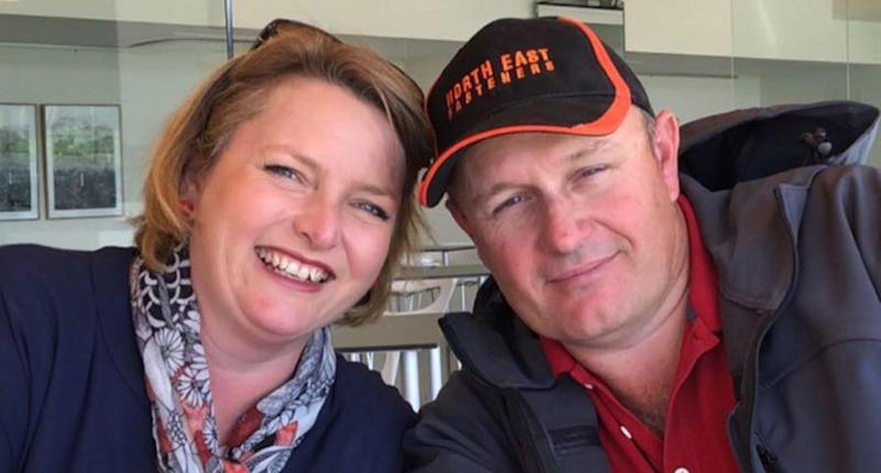 Mandi McDonald and her husband Paul. Mr McDonald was killed by their pet deer at their property in Moyhu on Wednesday morning. His wife is in a critical condition. Source: Facebook/ Mandi McDonald
