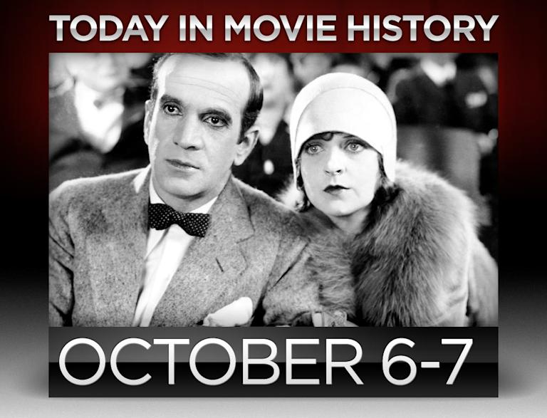 today in movie history, october 6, october 7