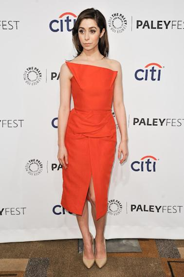 "Cristin Milioti arrives at PALEYFEST 2014 - ""How I Met Your Mother"" Series Farewell on Saturday, March 15, 2014, in Los Angeles. (Photo by Richard Shotwell/Invision/AP)"