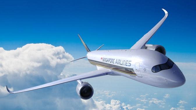 Singapore Airlines mengoperasikan pesawat Airbus A350-900ULR (Ultra Long Range) terbaru untuk penerbangan terpanjang. (dok. Singapore Airlines/Dinny Mutiah)