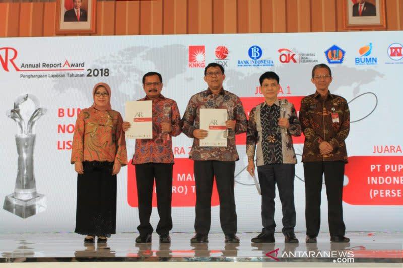 Laporan tahunan Pupuk Indonesia raih penghargaan