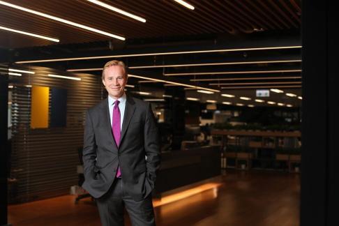 Christian Hogg, CEO of Hutchinson China MediTech. Photo: Xiaomei Chen