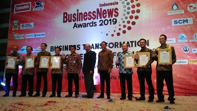 PT Surya Citra Media (SCM) meraih penghargaan The Best Innovation and Business Transformation in Multimedia Industri pada ajang BusinessNews Award (IBA) 2019. (Merdeka.com/Anggun P. Situmorang)