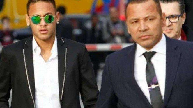 Neymar Jr bersama ayahnya Neymar Santos, Sr.