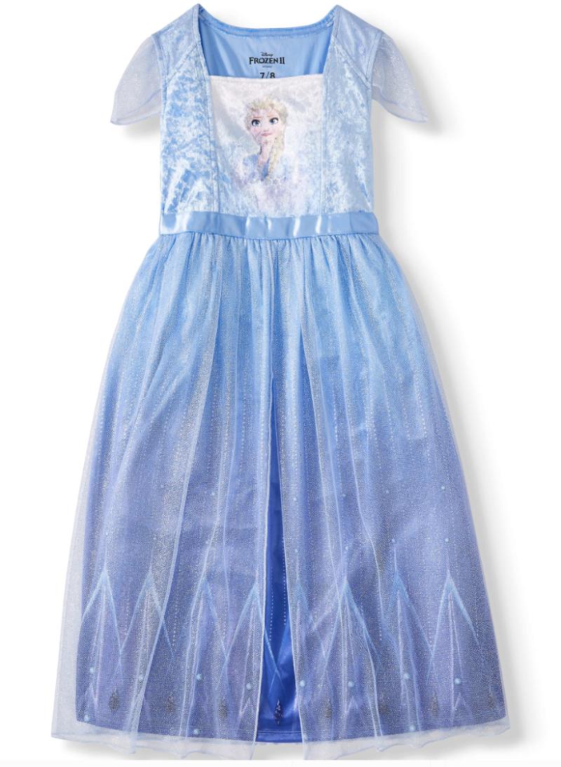 Disney Frozen II Fantasy Gown Pajamas. (Photo: Walmart)