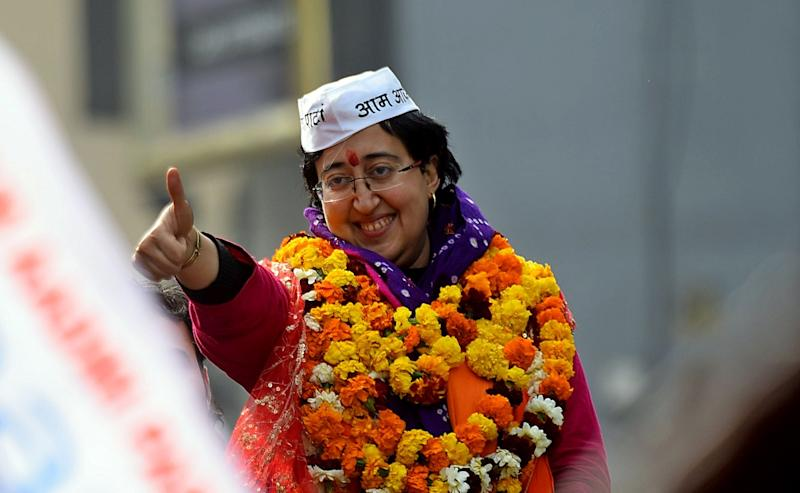 Atishi Marlena (Photo by Amal KS/Hindustan Times via Getty Images)
