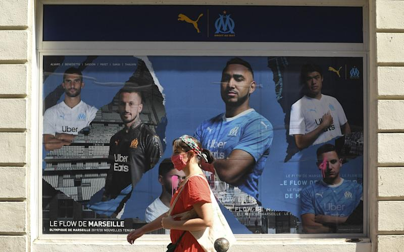 Face masks are compulsory outdoors in Marseille - NICOLAS TUCAT/AFP via Getty Images