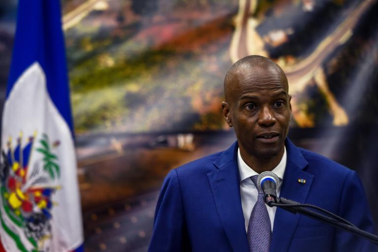 Haitian President Jovenel Moise, seen here in January 2020, has put a halt to all air travel in and out of the country after it recorded its first coronavirus cases