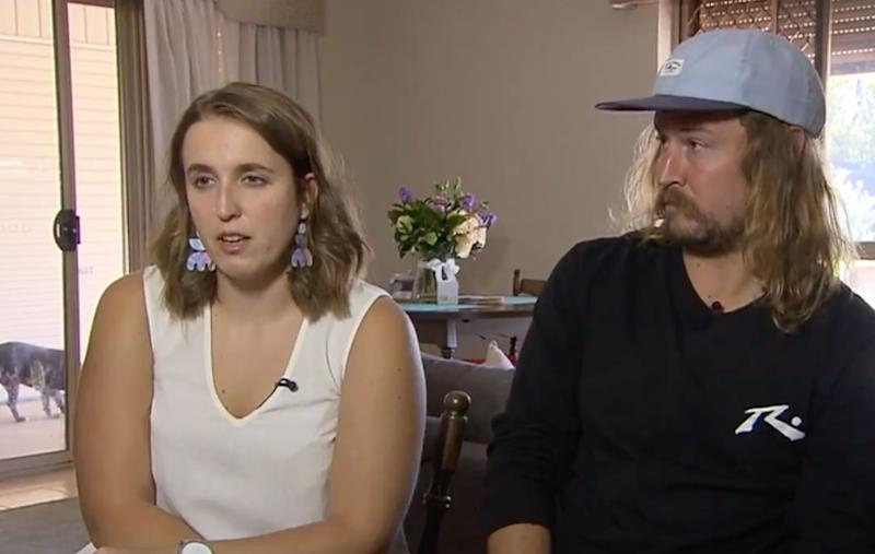 Sophie Heynes-Bishop and Patrick Ritchie were in Columbo when the Easter Sunday bombings sent the city into chaos. Source: 7News Sydney