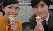 並肩香港街頭吃冰淇淋 竹內結子、三浦春馬合照惹鼻酸