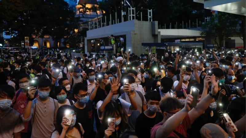 Pengunjuk rasa di Hong Kong