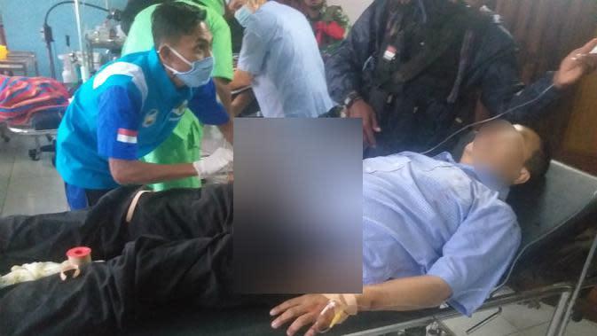 Tim Gabungan Pencari Fakta (TGPF) bentukan Menkopolhukam, Mahfud MD ditembaki oleh KKB Papua. (Liputan6.com/Katharina Janur)