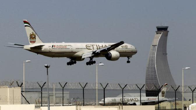 Etihad Airways maskapai penerbangan nasional milik Uni Emirat Arab (AP)