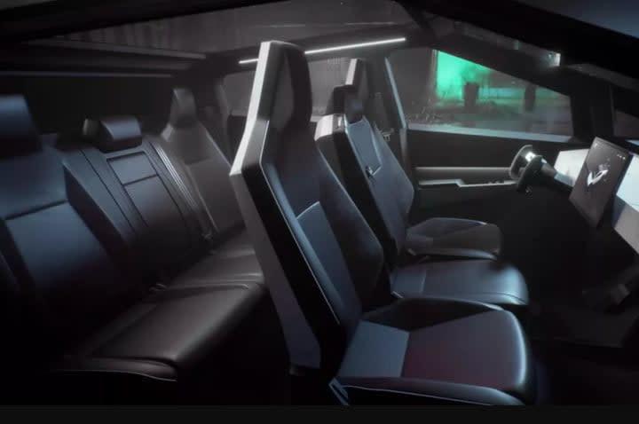 tesla cybertruck vs ford f 150 interior