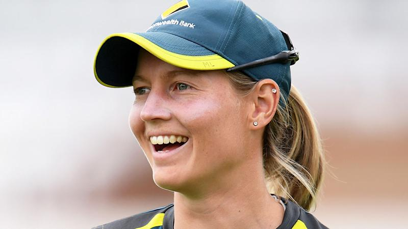 Meg Lanning during an Aussie training session ahead of the women's Ashes Test. (Photo by Harry Trump/Getty Images)
