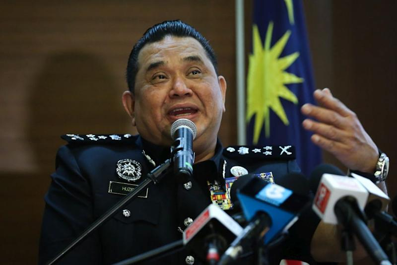 Bukit Aman Criminal Investigation Department (CID) director Datuk Huzir Mohamed speaks during a press conference in Kuala Lumpur September 30, 2020. — Picture by Yusof Mat Isa