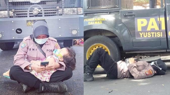 Top 3 News: Viral Foto Polwan Bertugas Sembari Membawa Anak