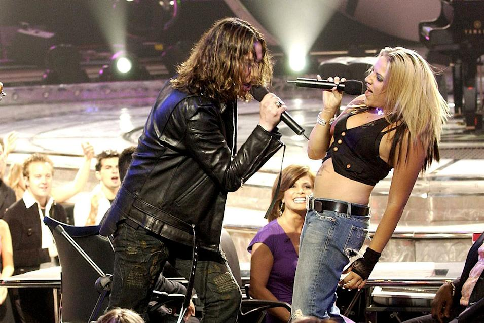 """Constantine Maroulis and Jessica Sierra perform """"Walk This Way"""" on the season 4 """"American Idol"""" finale."""