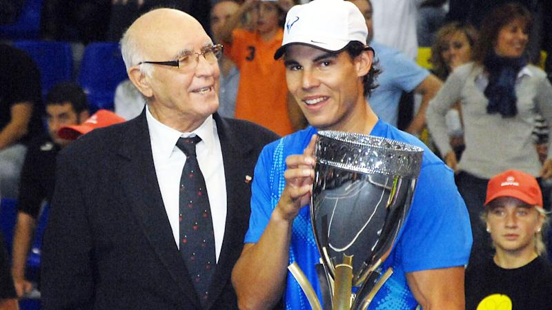 Andres Gimeno and Rafael Nadal, pictured here in Spain in 2011.