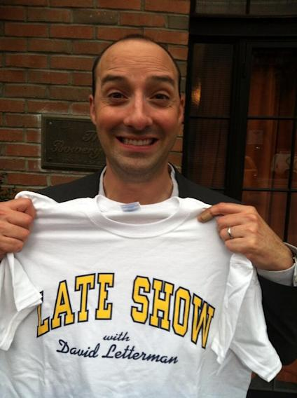 On Letterman tonight. Could not possibly be more excited!! @Lateshow