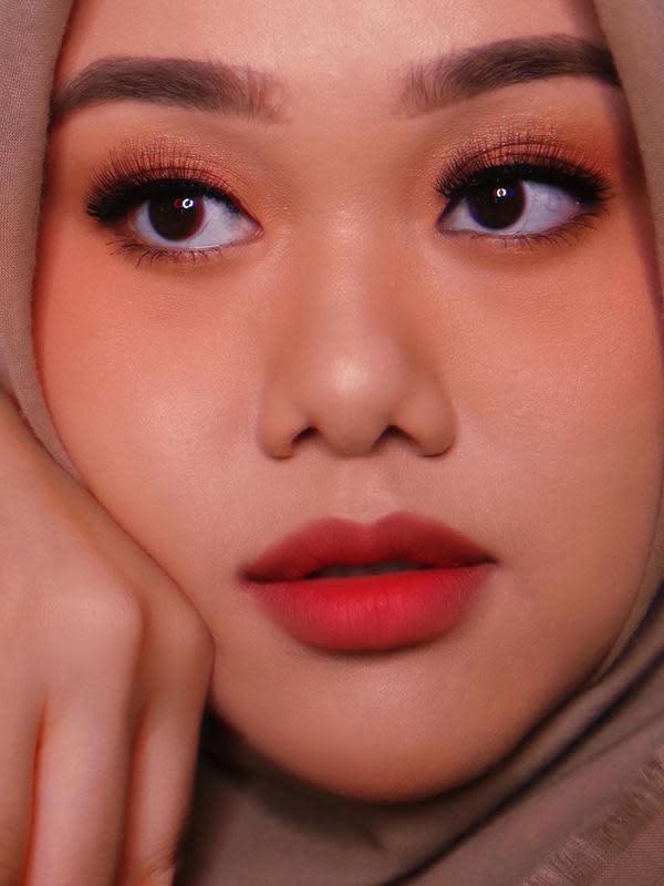 ilustrasi peach makeup ala fatya biya untuk lebaran/instagram: @fatyabiya