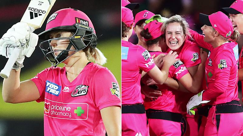 Ellyse Perry guided the Sixers to a big win over the Thunder.