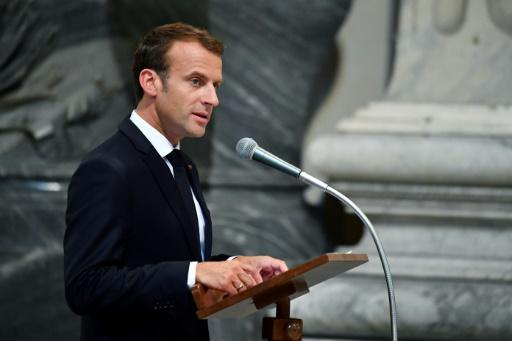 """Macron said he was """"truly moved"""" to be made an honorary canon of St John Lateran, the cathedral of Rome"""