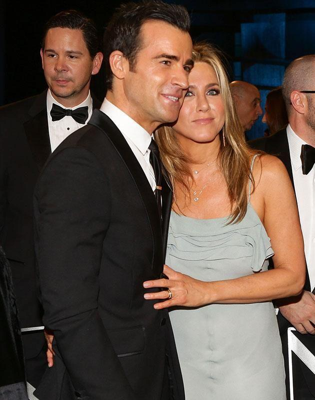 Jen is married to Justin Theroux. Source: Getty Images.
